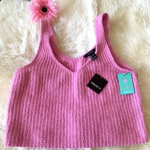 Forever 21 pink stretchable tank top